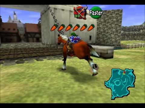 Young Link Riding Epona to Town!