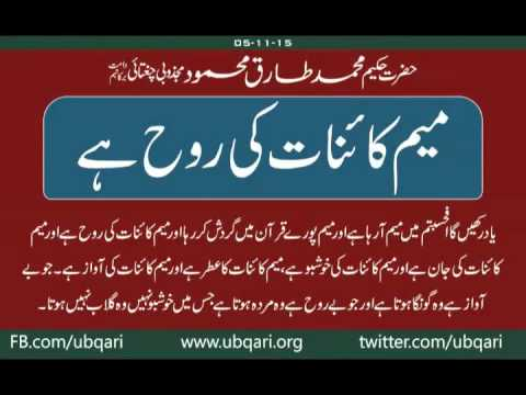 Meem Kainat Ki Rooh Hai Hakeem Tariq Mehmmod Ubqari