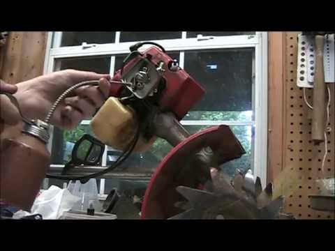 How to replace the carburetor and fuel lines on a Mantis Tiller + General Tuneup