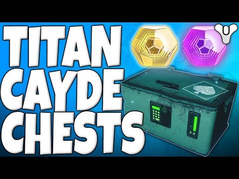 Destiny 2 - Cayde-6 Titan Treasure Chest Locations - ARE THEY WORTH IT? - October 17th 2017