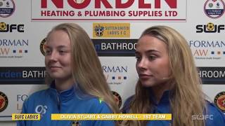 SUFCtv : INTERVIEWS SUFC Ladies 'Gabby Howell & Olivia Stuart post Hampton & Richmond