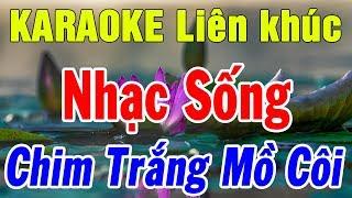 Karaoke Liên khúc Nhạc Sống Trữ Tình Nhạc Vàng Mới Nhất | Lk Bolero Chim Trắng Mồ Côi | Trọng Hiếu