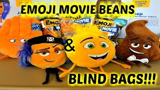 The EMOJI MOVIE PLUSH BEAN TOY REVIEW & EMOJI MOVIE BLIND BAGS SERIES 1! DON