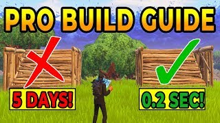 How to BUILD LIKE A PRO In Fortnite Battle Royale