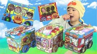 アンパンマン ペロペロチョコ たのしいのりもの缶 つなげて遊べる!! おもちゃ Anpanman Lollipop Chocolate thumbnail