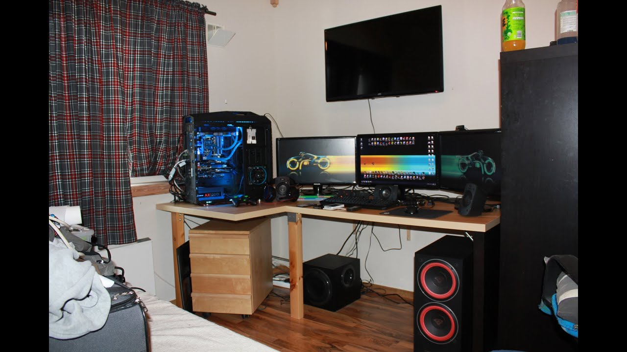 My ultimate gaming setup man cave bedroom june 2014 youtube - My Ultimate Gaming Setup Man Cave Bedroom June 2014 Youtube 18