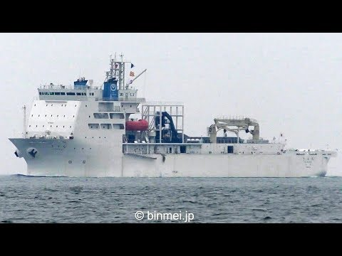 NTTの新造ケーブル敷設船きずな 北九州初入港 / KIZUNA - NTT WORLD ENGINEERING MARINE cable layer ship
