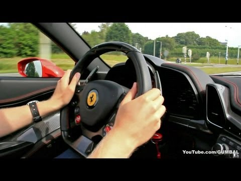 Exciting ride in a Ferrari 458 Spider! - Downshifts, Rev & Accelerations!