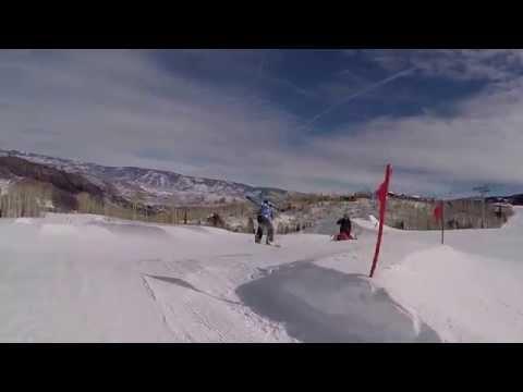 Sierra Kerr Snowboarding girl age 7. Josh Kerr daughter skateboarder surfer snowboarder Aspen GoPro
