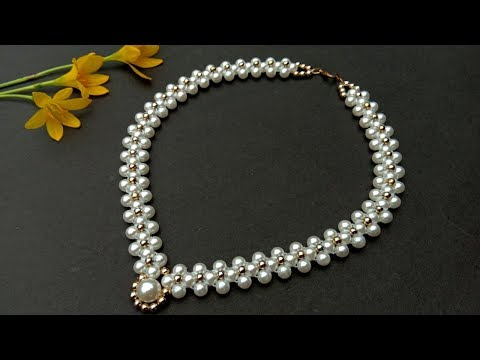 How To Make//Pearl Necklace//At Home//Necklace Tutorial// Useful & Easy