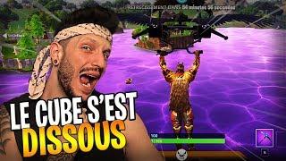 LE CUBE S'EST DISSOUS DANS LOOT LAKE !!! - FORTNITE BATTLE ROYALE FR