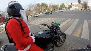 Деды морозы на мотоциклах. Новороссийск декабрь 2018