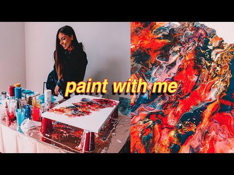 Paint Fluid Art With Me! ACRYLIC POURING FOR BEGINNERS   STEP BY STEP