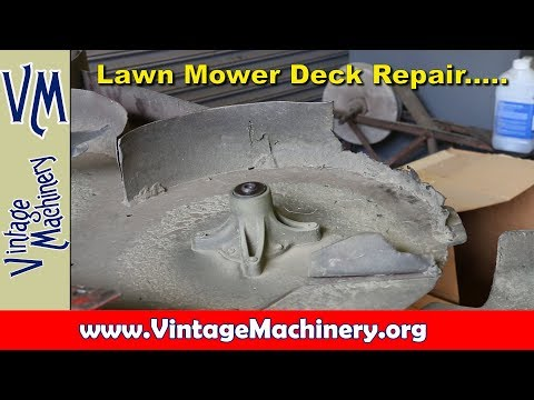Mower Deck Repair:  Fab and Welding
