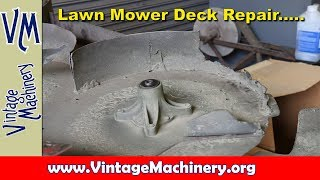 Mower Deck Repair:  Fab and Welding