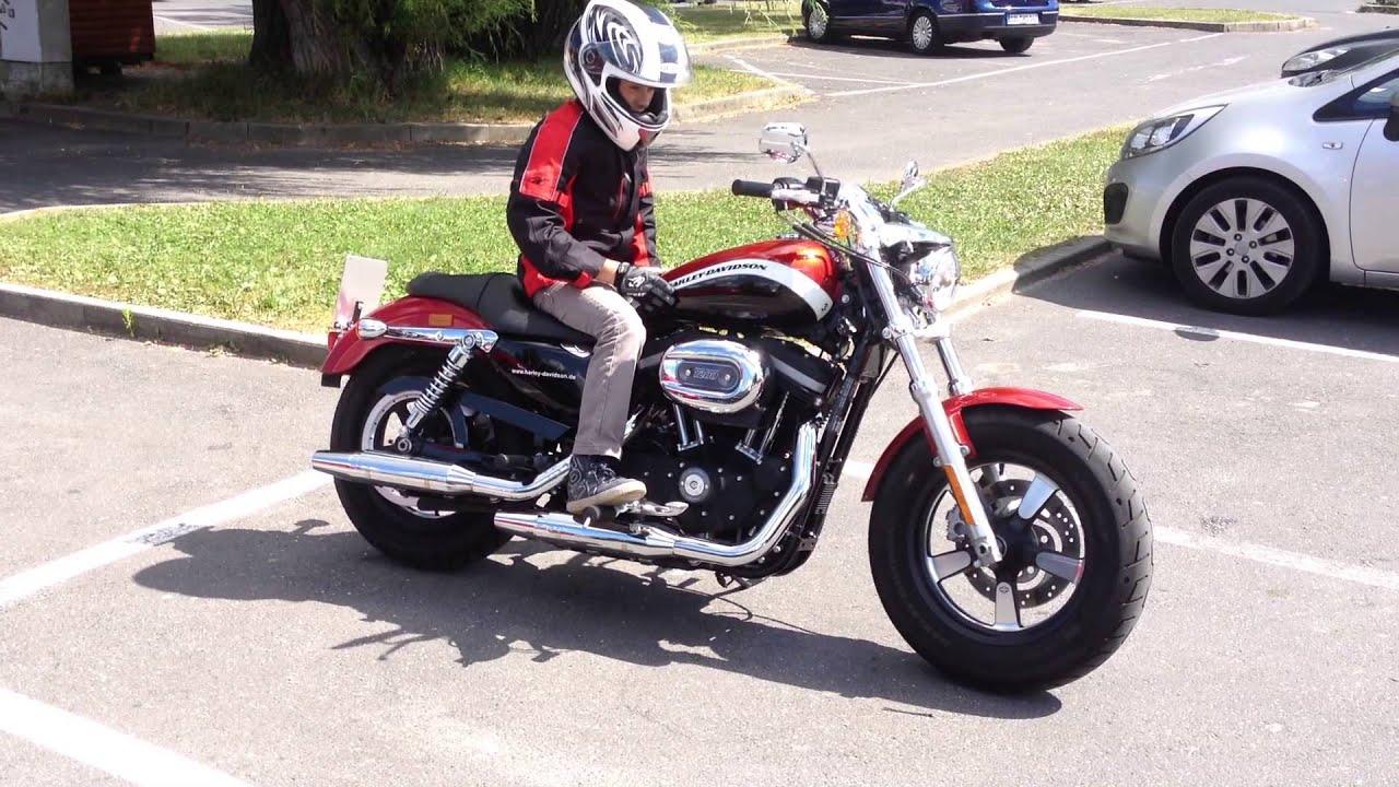 Kurzer Soundcheck Harley Davidson Sportster 1200 CA - YouTube