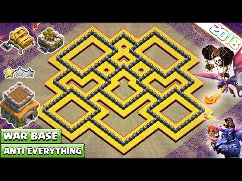 NEW! Town Hall 8 (TH8) War Base 2018 !! TH8 War Base With Gear Ups – Clash Of Clans
