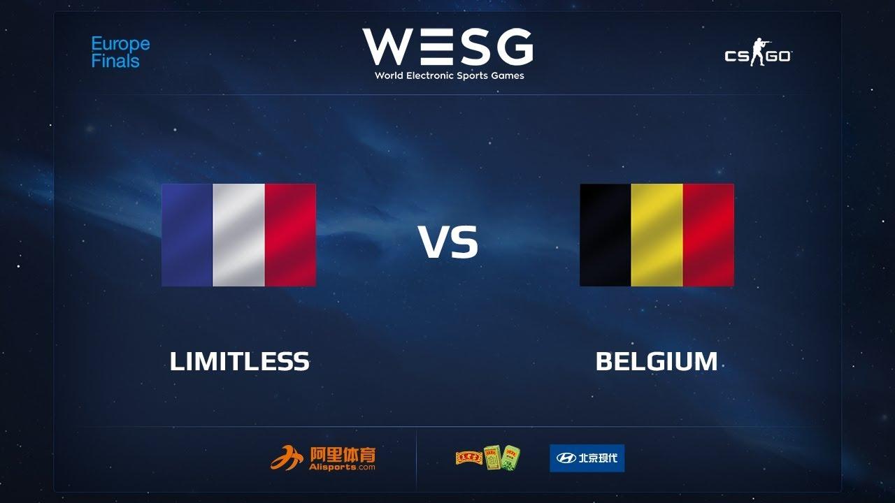 Limitless vs Belgium, map 1 inferno, WESG 2017 CS:GO European Qualifier Finals