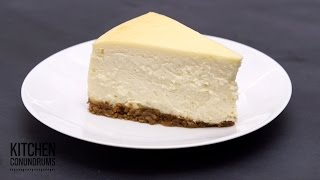 The Method Behind A Crack-free Cheesecake - Kitchen Conundrums With Thomas Joseph