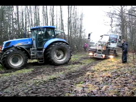 towing crane with two tractors - no help