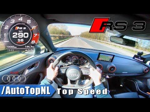 Audi RS3 Sportback 400HP ACCELERATION & TOP SPEED 290km/h AUTOBAHN POV Test Drive by AutoTopNL