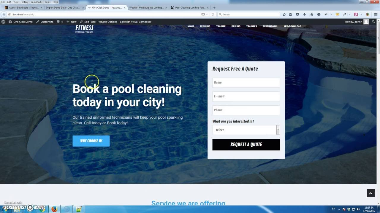 One Click Import Demo Content Wealth – Multi-Purpose Landing Page ...