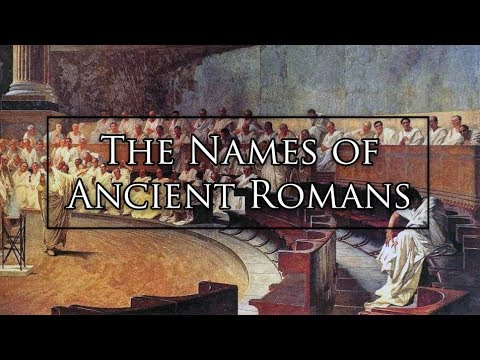 The Names Of Ancient Romans