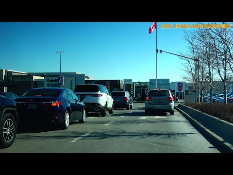 [4K] 2018 Driving to Yorkdale Shopping Centre (Mall) Toronto from Brampton Canada