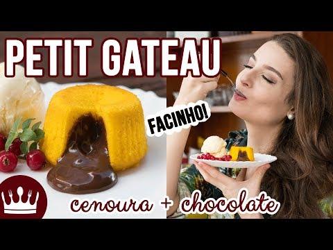 PETIT GATEAU DE BOLO DE CENOURA COM CHOCOLATE (receita fácil) | Cozinha do Bom Gosto | Gabi Rossi