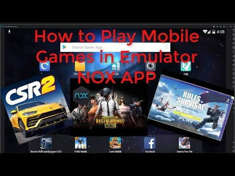 How To Play Mobile Games At Your PC  With Emulator ANDROID ( NOX APP )