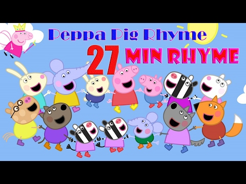 Peppa Pig ♪♪ 27 Min New Rhyme ♪♪ 2017 ♪♪ Mary Had A Little Lamp ♪♪