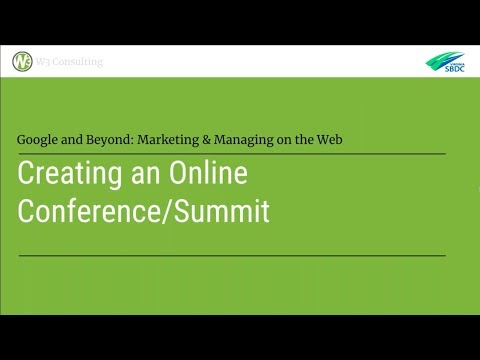 How To Launch A Virtual Summit, Or Online Conference, For Small Business