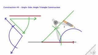 Compass Construction 9 - ASA Triangle Construction