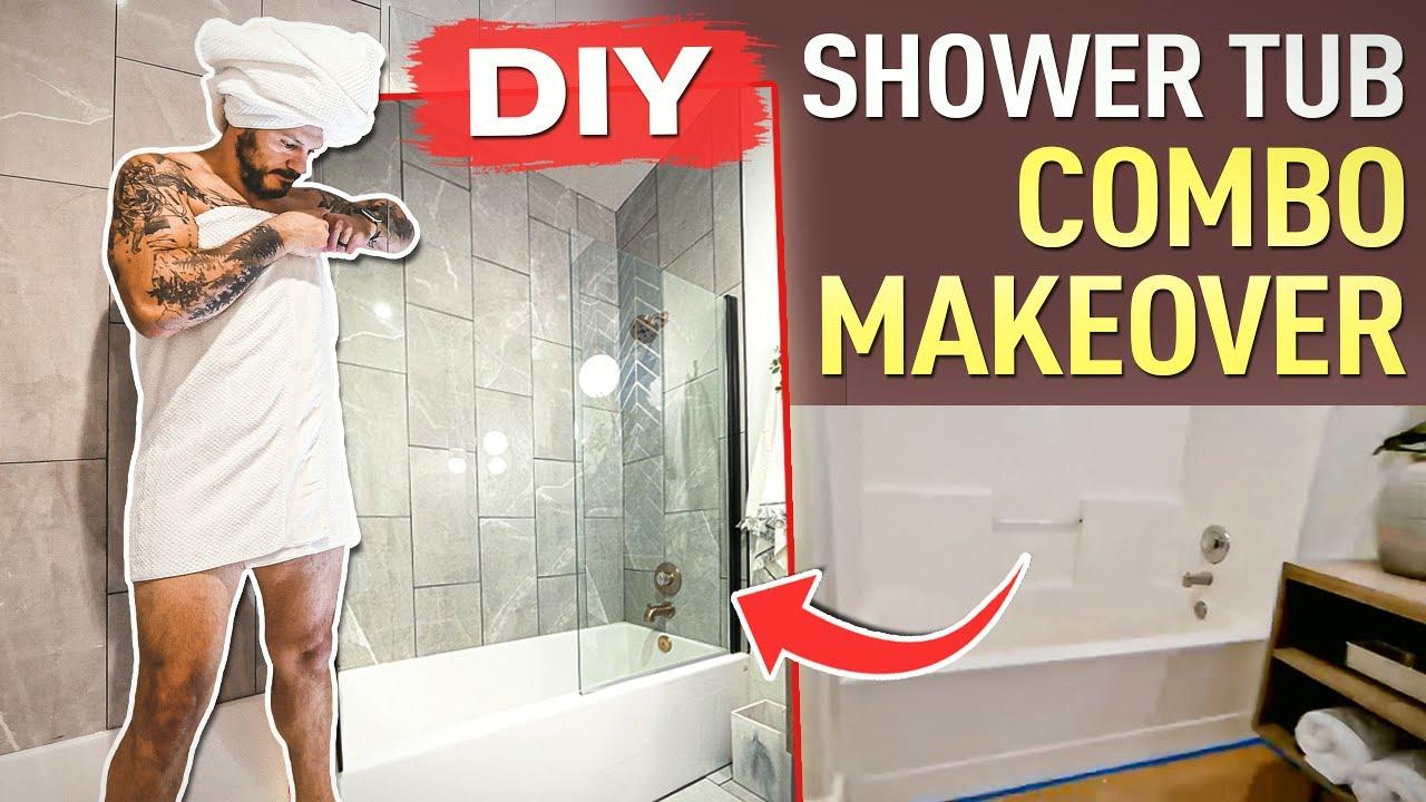 DIY Shower Tub Combo Makeover