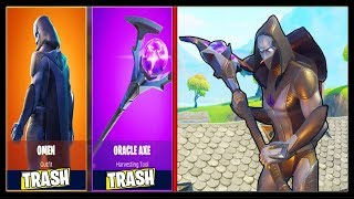 *NEW* OMEN LEGENDARY SKIN | ORACLE AXE (BEST SKIN + PICKAXE In FORTNITE?)