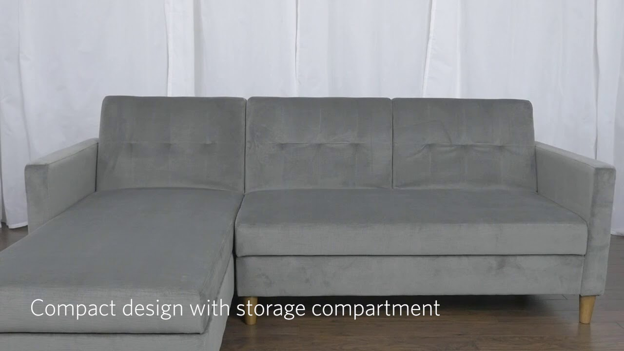 Dhp Hartford Storage Sectional Futon