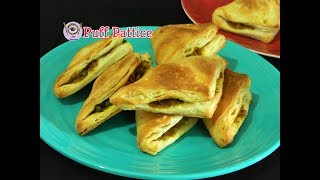 Indian Bakery Style veg Puff With Homemade Puff Pastry Sheets |Food Connection