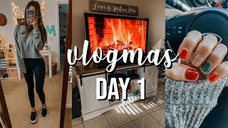 VLOGMAS DAY 1: studying for finals, christmas nails, shopping