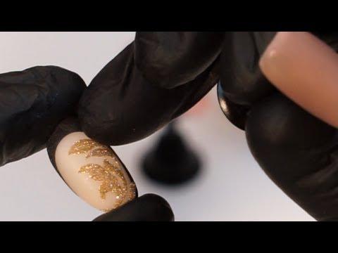 Дизайн ногтей с блестками, мастер класс, маникюр artex