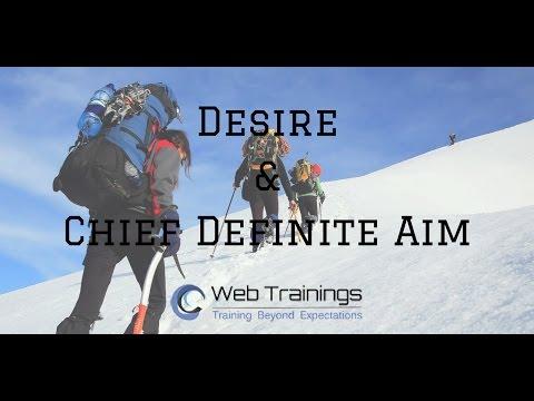Motivational Video - Desire & Definite Chief Aim for Success - 2