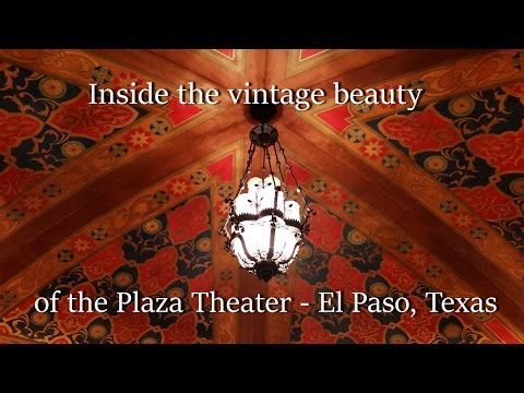 Behind the scenes in the historic Plaza Theater - El Paso, Texas