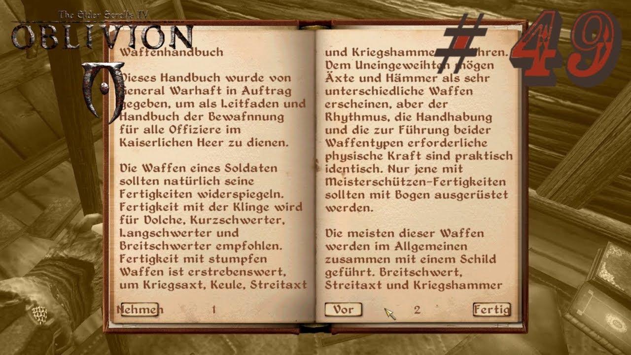 oblivion handbuch