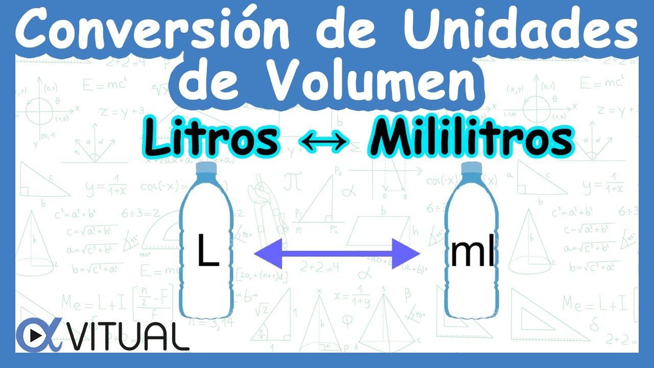 CONVERSIÓN DE UNIDADES DE VOLUMEN: Litros a mililitros y mililitros ...