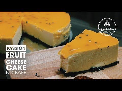 How to make Passion Fruit Cheesecake no-bake | Cách làm bánh Phô-mai Chanh leo | Nhi Chan