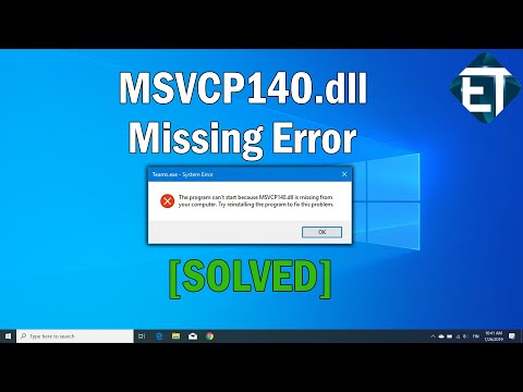 How To Fix MSVCP140.dll Missing In Windows 10, 8, 7 (2 Fixes) | 2020