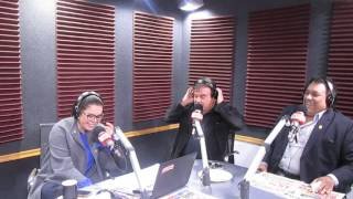 Randy Calandra y Johnny Lopez con Milagros Leiva en RADIO EXITOSA