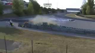 Нарезка страшных аварий в автоспорте за 2012 год