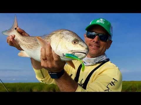 Poling Louisiana's redfish flats with C.A. Richardson