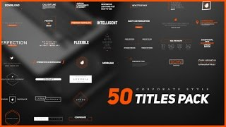 50 Stylish Corporate Titles Pack ( After Effects Project Files)