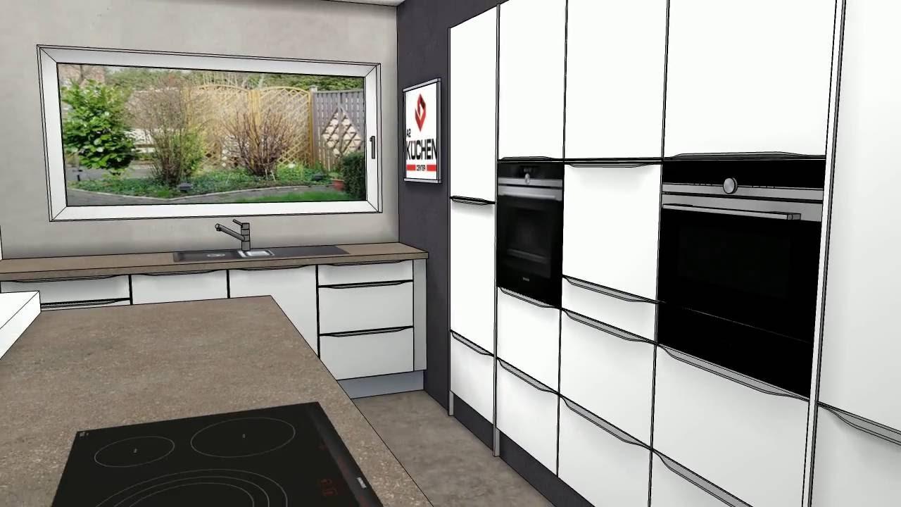 k chenplanung mit insel. Black Bedroom Furniture Sets. Home Design Ideas